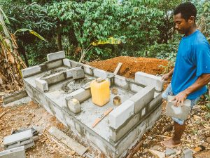Madagascar Volunteer: Volunteers commence Toilet Block 3